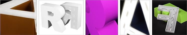 Kunststoffbuchstabe Rückseite beleuchtet