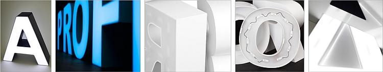 Kunststoffbuchstabe Vorder & Rückseite beleuchtet