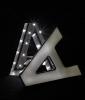 Aluminiumbuchstabe Vorderseite beleuchtet